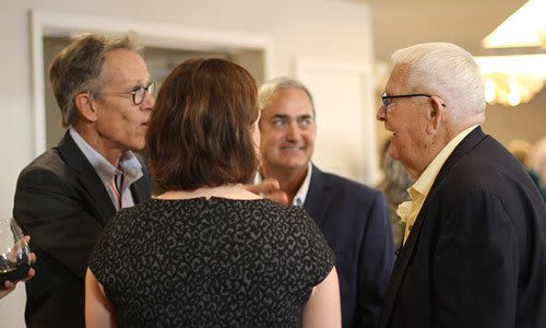 A group of board members from Merrill Gardens getting together