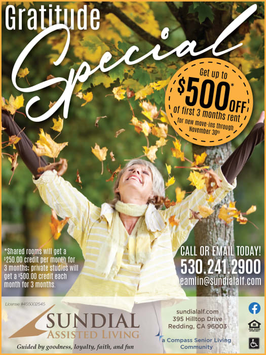 Specials flyer at Sundial Assisted Living