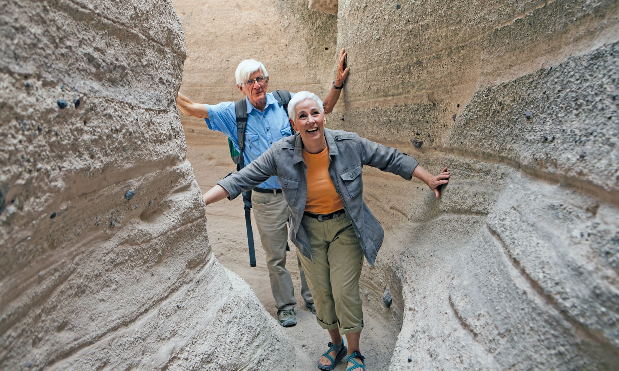 Couple of seniors touring Surprise, Arizona