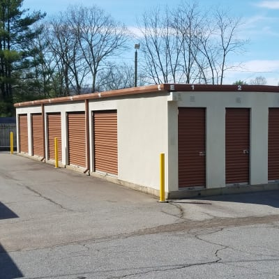 Storage unit building at Monster Self Storage in Asheville, North Carolina