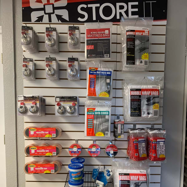 Packing supplies available at StorQuest Self Storage in Odessa, Florida