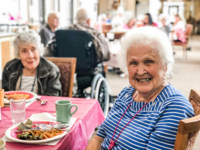 Residents at Bayberry Commons Assisted Living and Memory Care.