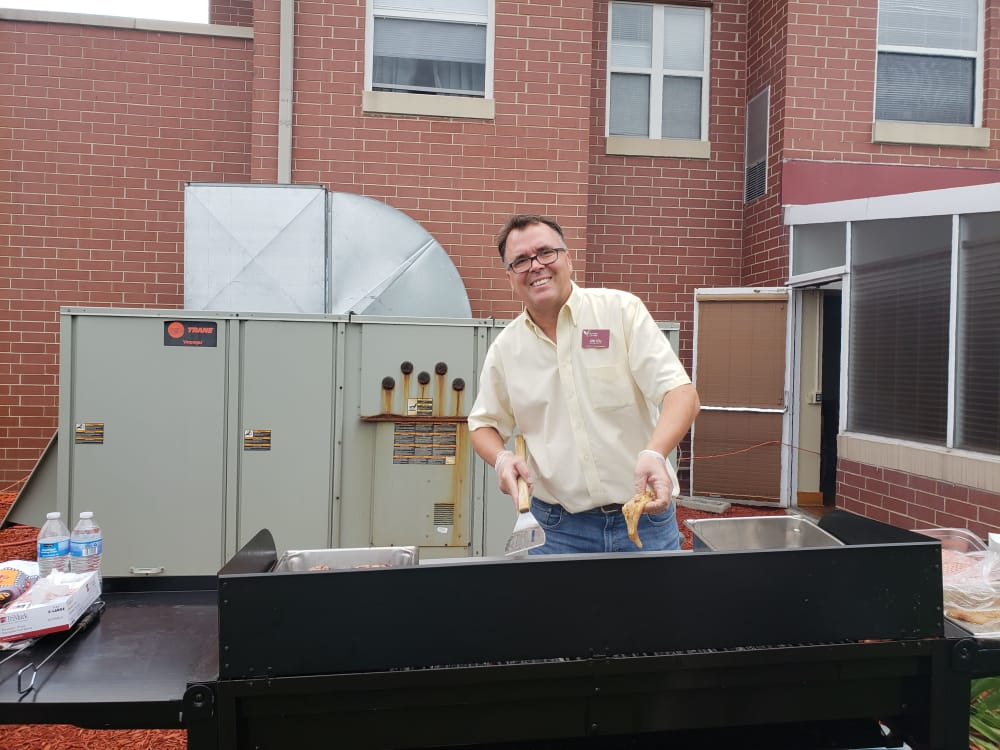 staff grilling food