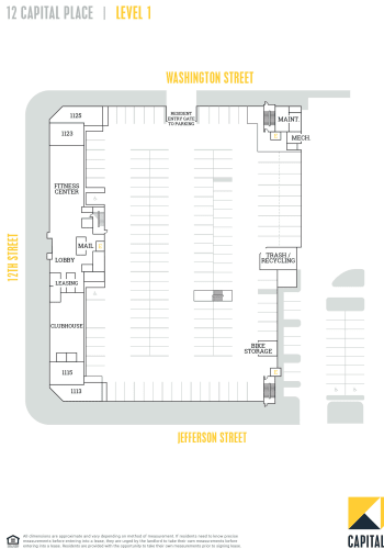 Capital Place Building 12, level 1 site plan