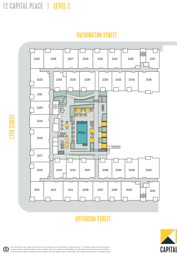 Capital Place Building 12, level 2 site plan
