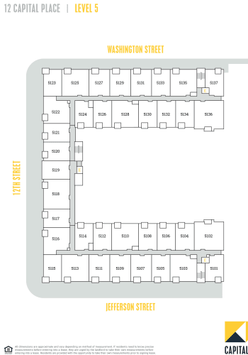 Capital Place Building 12, level 5 site plan