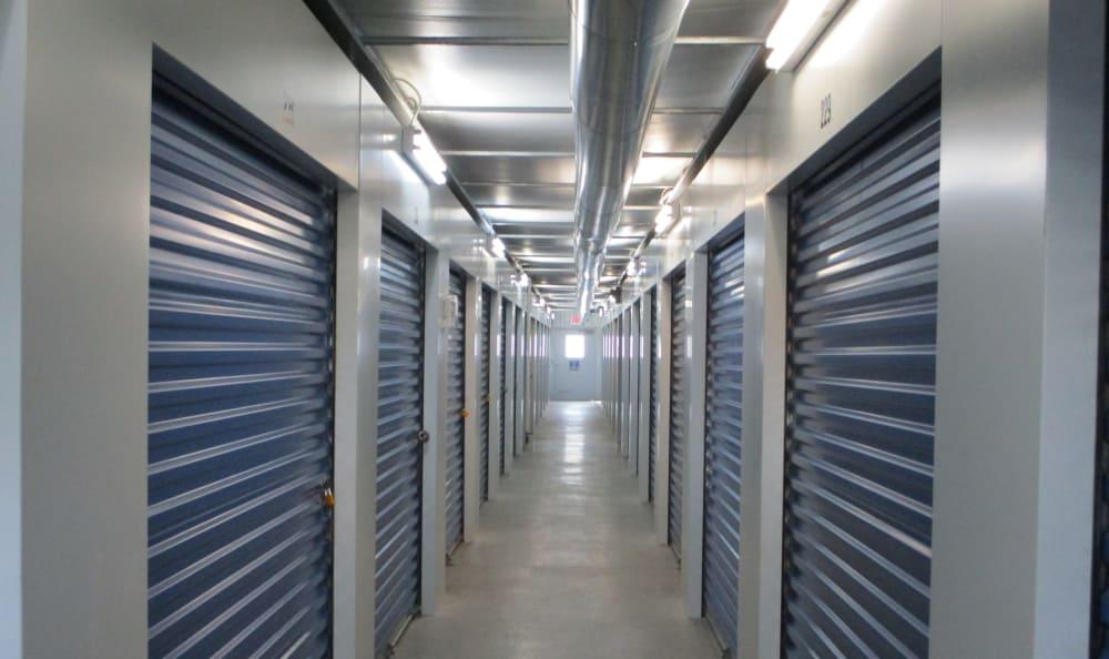 Interior storage units at Compass Self Storage in Cincinnati, OH