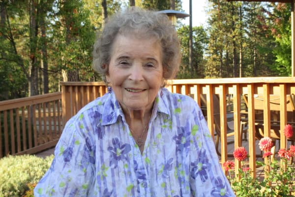 Hilda Blumert at Feather Canyon in Paradise, California