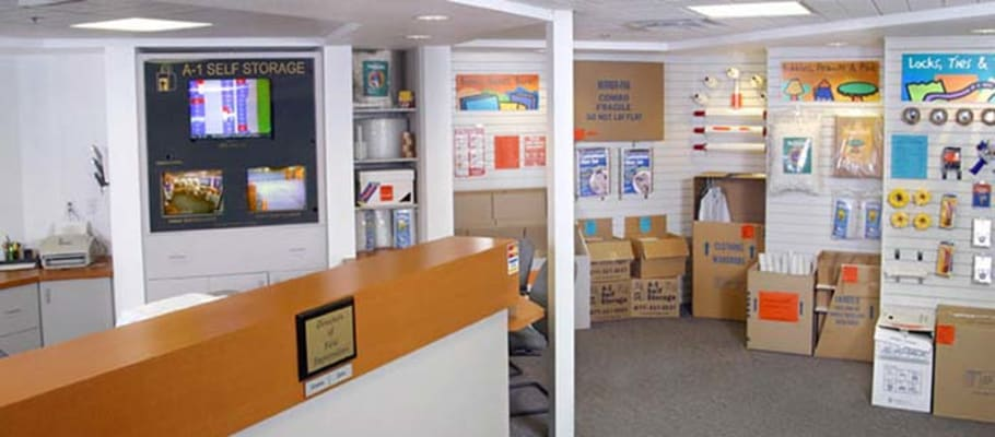 The front office at A-1 Self Storage in Oakland, California