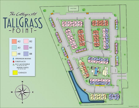 Site map for Cottages at Tallgrass Point Apartments in Owasso, Oklahoma