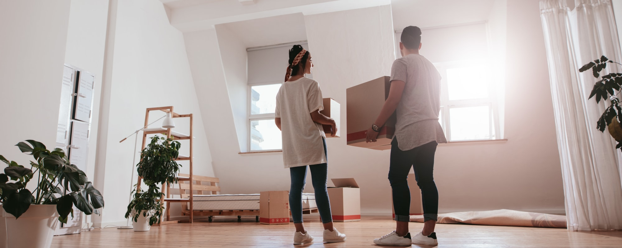 Couple moving into a new apartment from A3 Storage Centers in Odessa, Texas