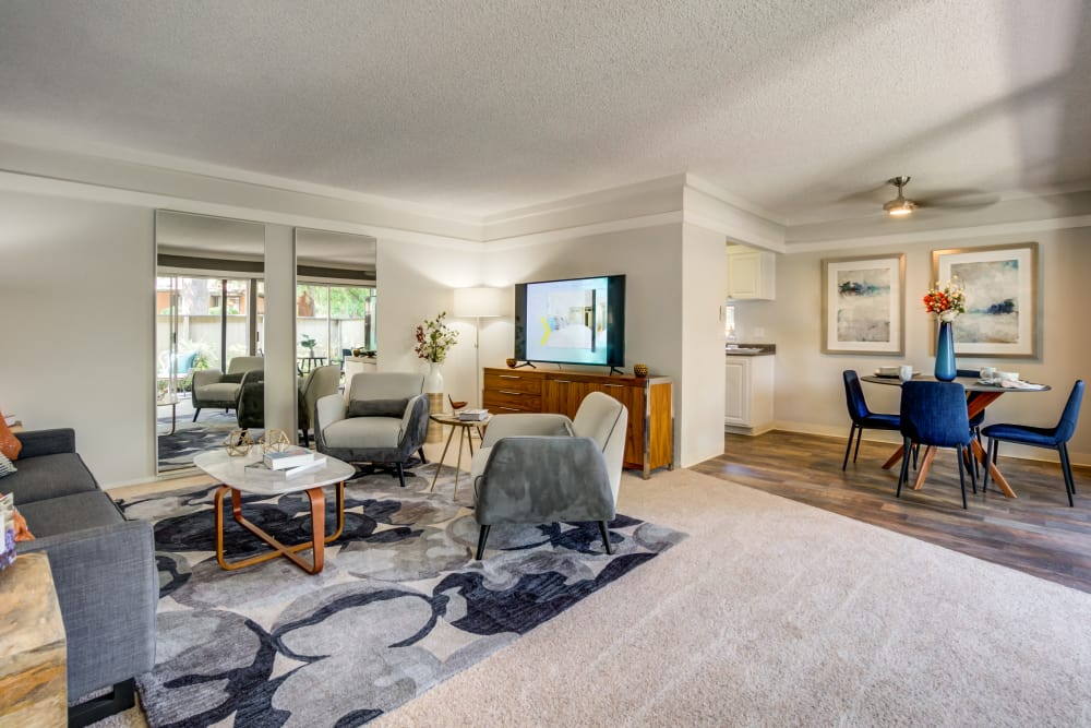 Sofi Fremont offers a natrually well-lit living room in Fremont, California