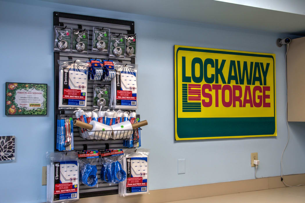 Moving and packing supplies at Lockaway Storage in San Antonio, Texas