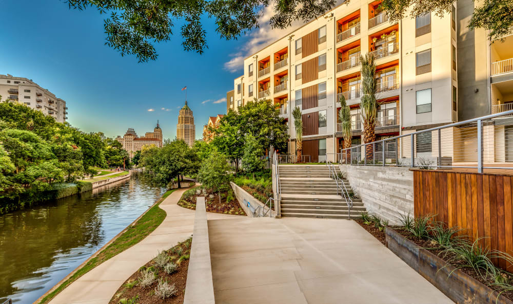 Exterior view of our luxury community at Agave in San Antonio, Texas
