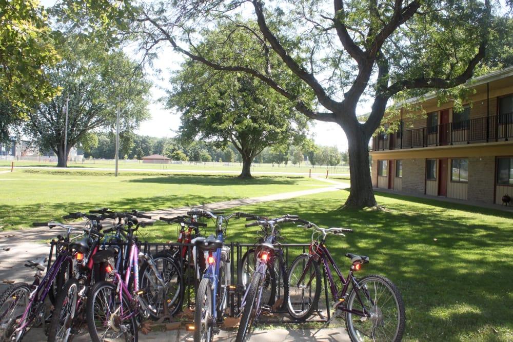 Bike Rack at Campus Edge at Brigham