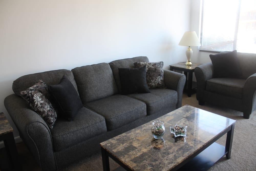 Living Room at Campus Edge at Brigham