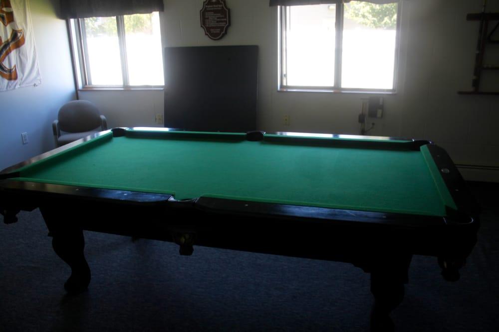 Pool Table at Campus Edge at Brigham