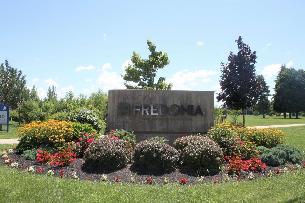 Fredonia sign near Campus Edge at Brigham