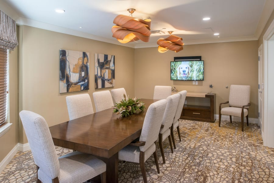 Private dining rooms at Village at Belmar