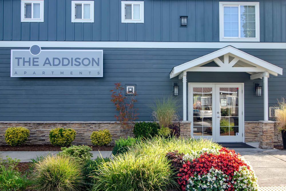 The leasing center at The Addison Apartments in Vancouver, Washington