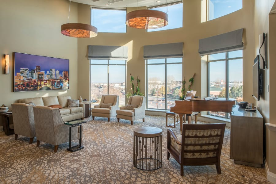 Full view of common area living room at Village at Belmar
