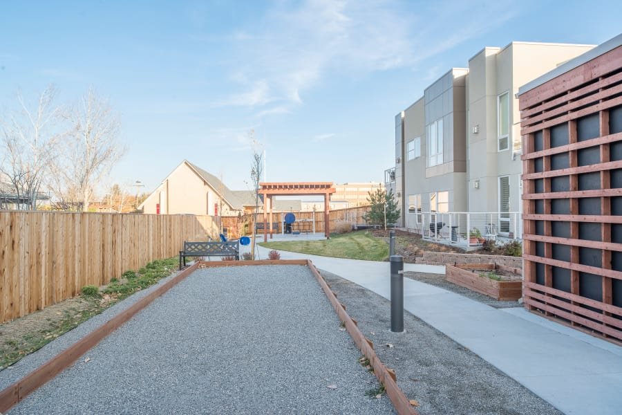 Bocce ball courts and more at Village at Belmar