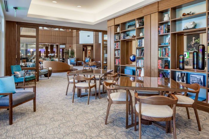 Library for residents at All Seasons Naples in Naples, Florida