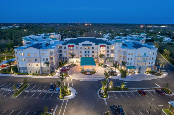 Aerial view of our community at All Seasons Naples in Naples, Florida