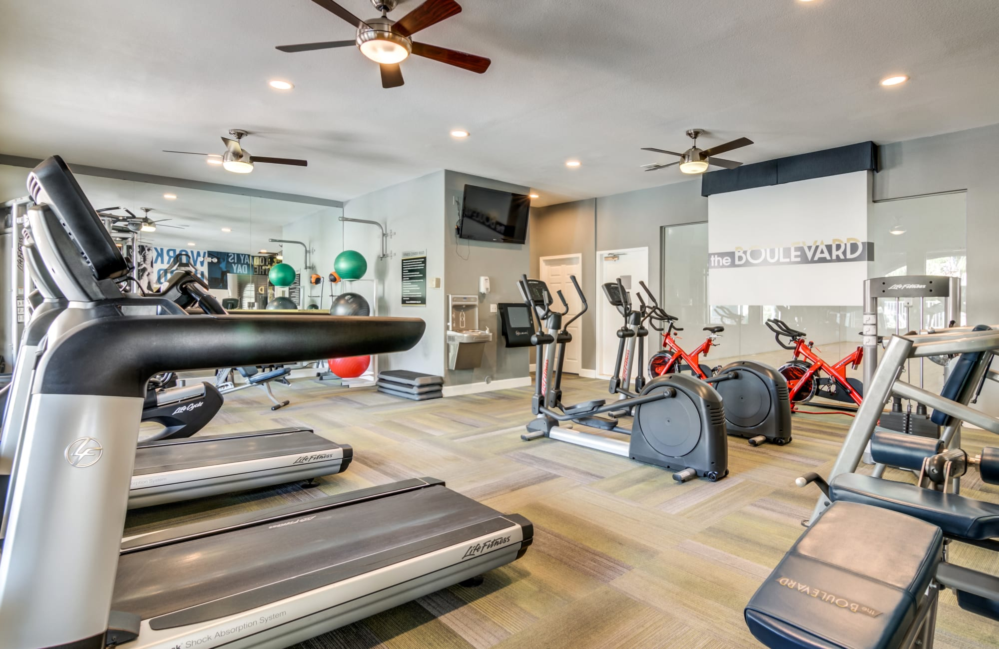 Fitness center at The Boulevard in Phoenix, Arizona
