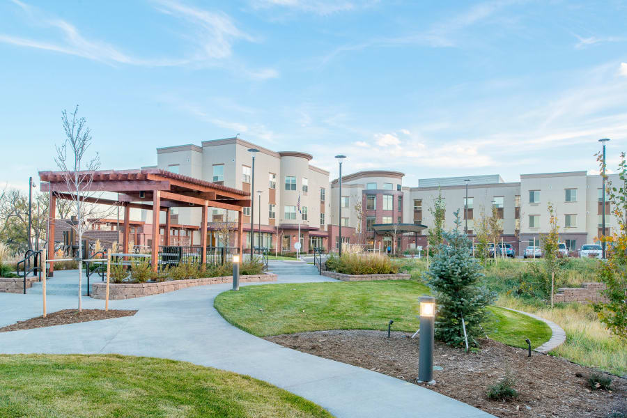 Beautiful walking paths and outdoor green spaces at Village at Belmar