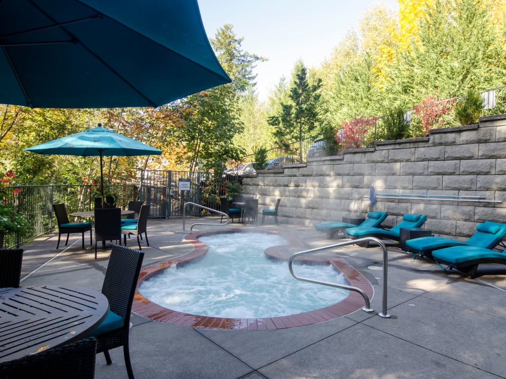 Spa area at Sofi at Forest Heights in Portland, Oregon