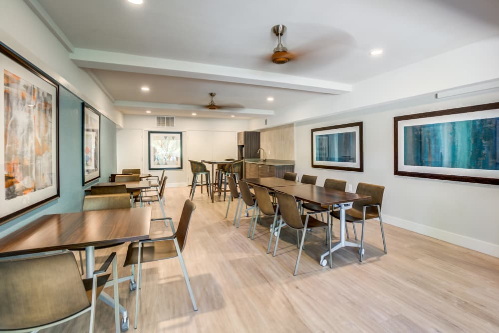 Apartments with a clubhouse that is great for entertaining