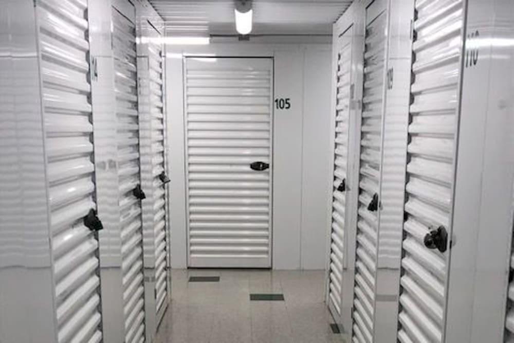 Clean interior storage units at Safe Storage in Hollis, Maine