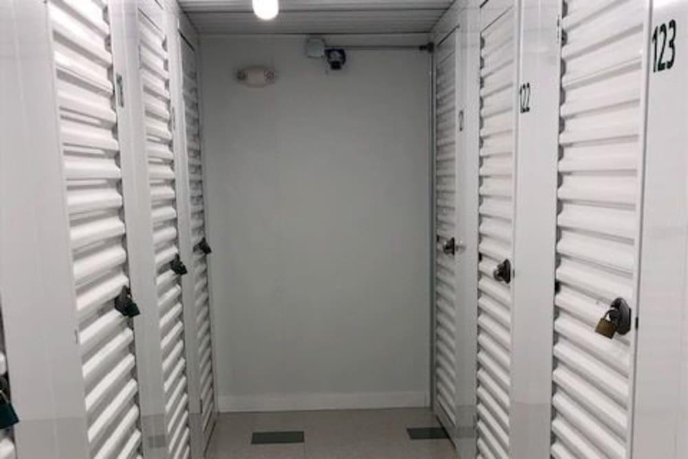Interior storage units at Safe Storage in Hollis, Maine