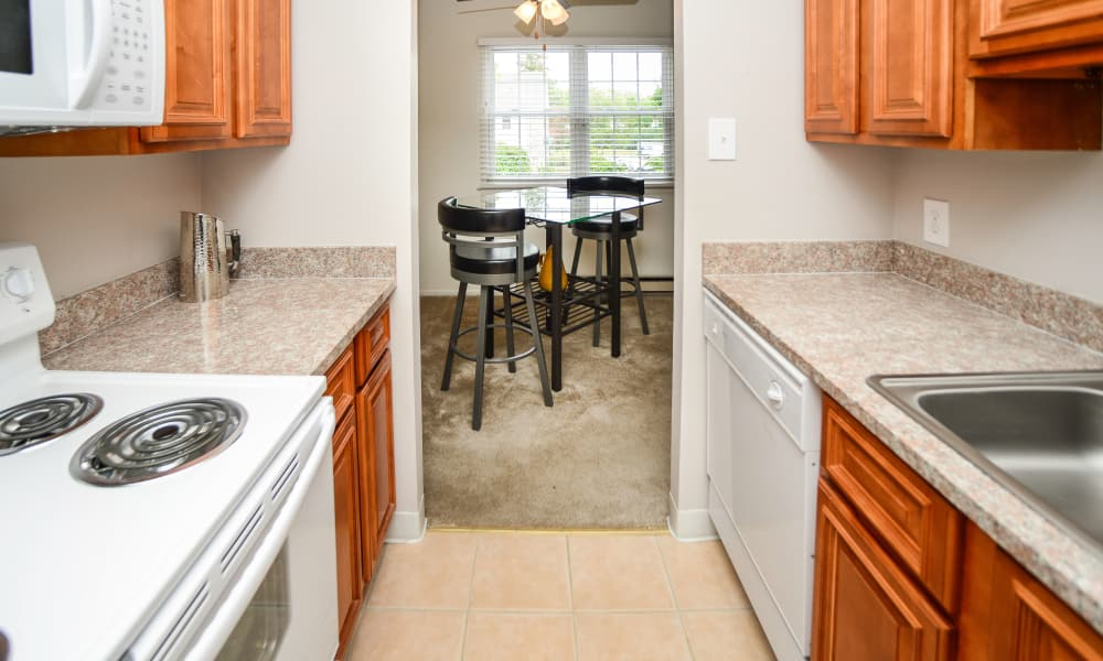 Kitchen at Kingswood Apartments & Townhomes