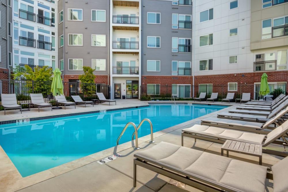 Crossings at Olde Towne has a premium resort style swimming pool in Gaithersburg, Maryland
