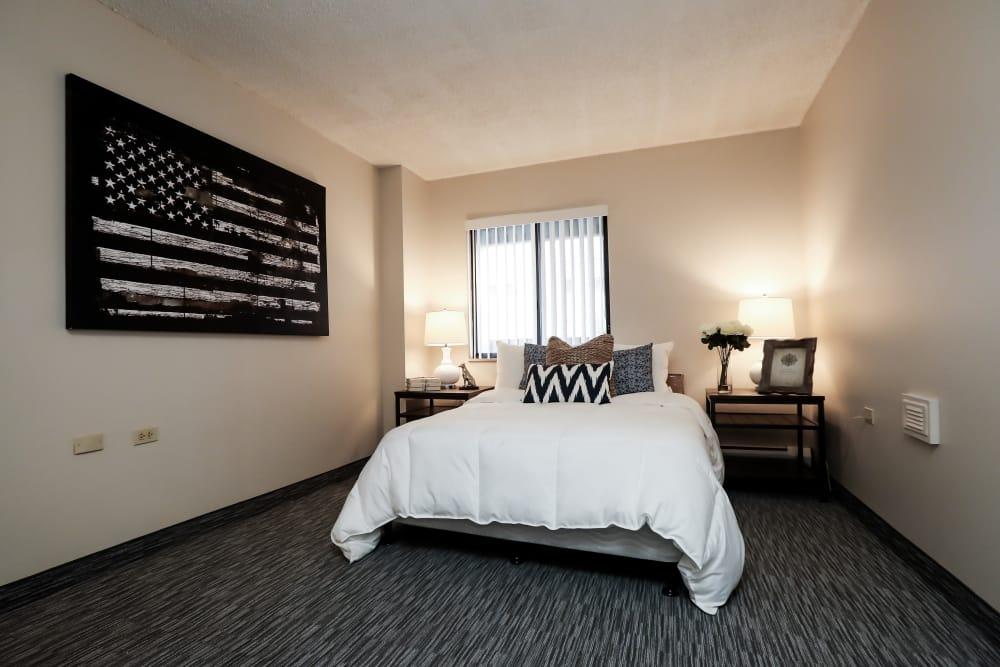 Master bedroom at Halcyon House in Denver, Colorado