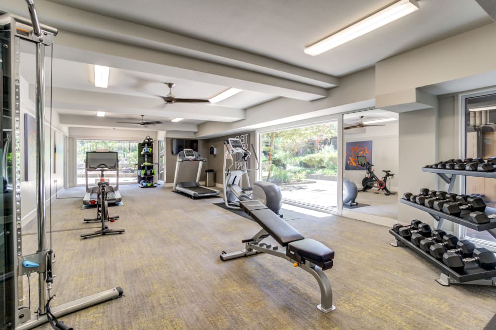 State-of-the-art fitness center at Sofi Fremont in Fremont, California