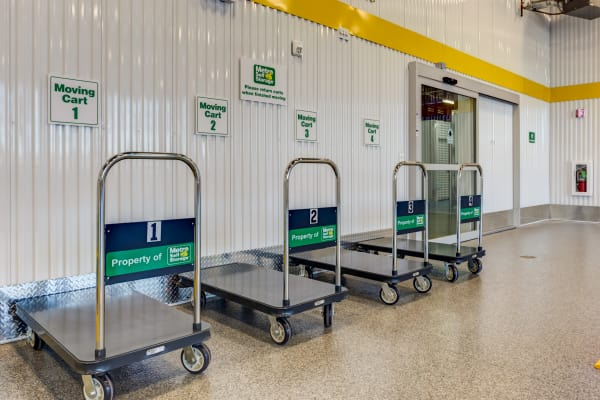 Our storage facility offers free dolly & cart use at Metro Self Storage