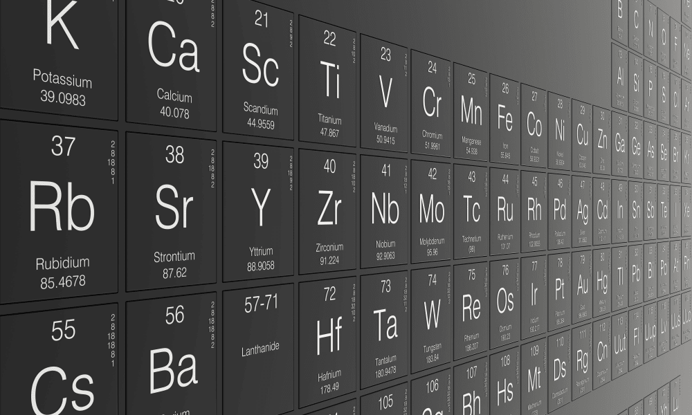 Lockers stylized as a periodic table at Fusion in Jacksonville, Florida