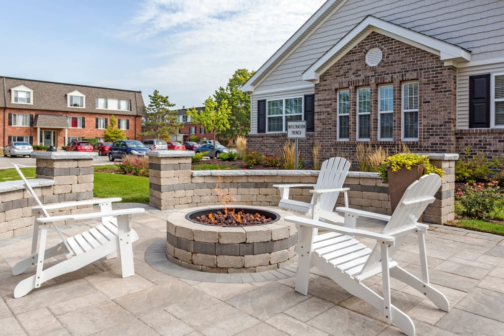 Firepit at Cypress Place in Elk Grove Village, Illinois