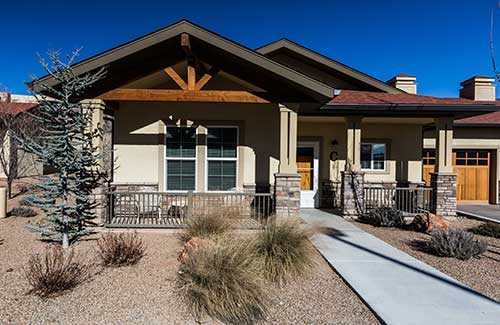 Outside view at Las Soleras Senior Living in Santa Fe, New Mexico