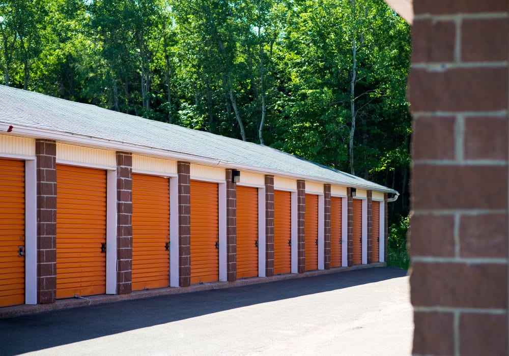 Well maintained exterior units at Apple Self Storage - Dieppe in Dieppe, New Brunswick