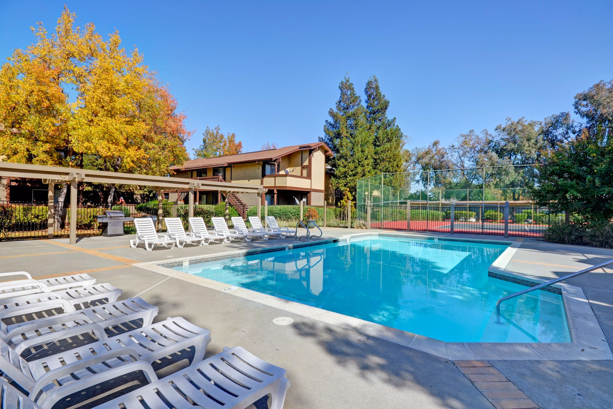 A gorgeous pool for those hot California days