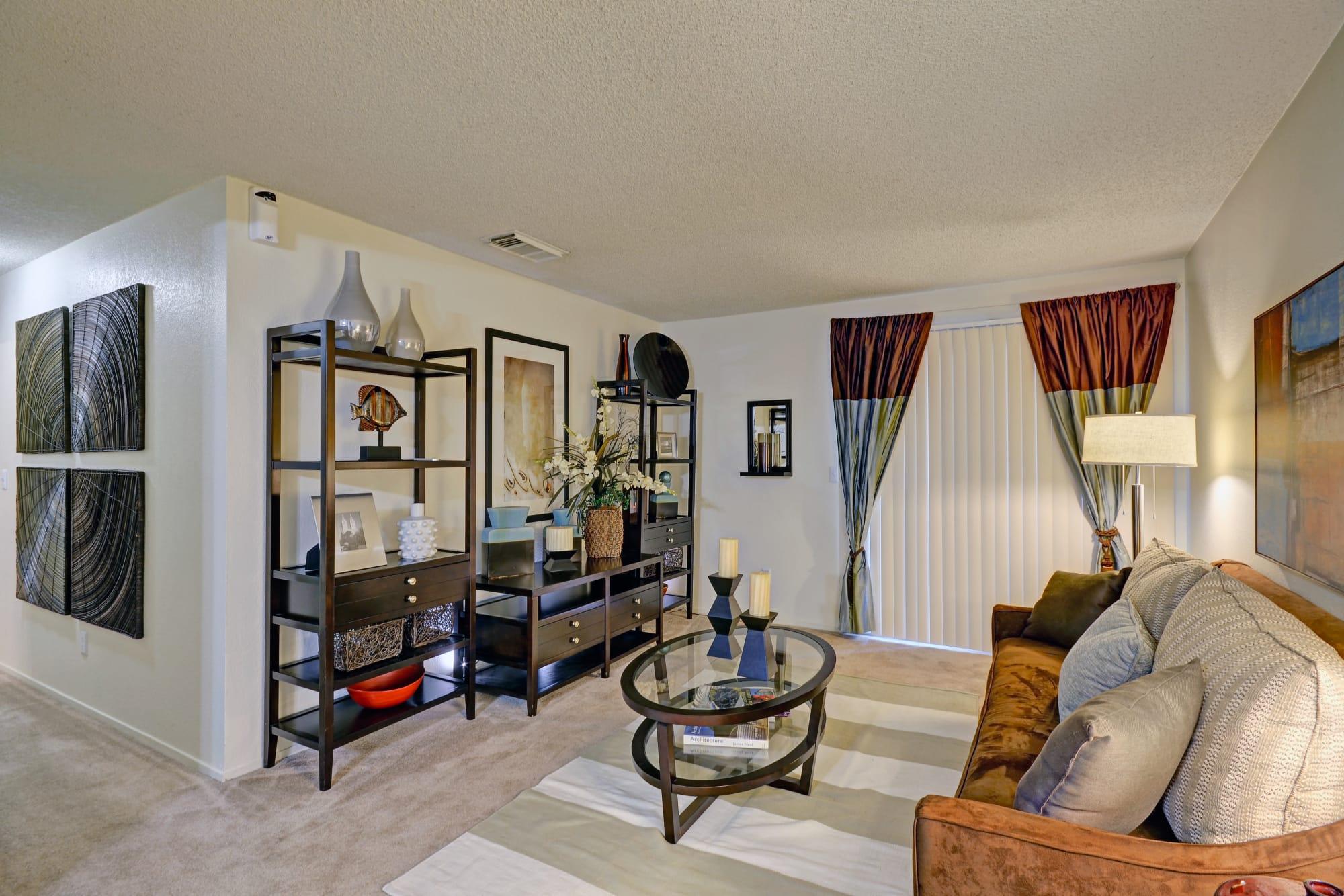 Tall windows and spacious layouts at Avery Park Apartments