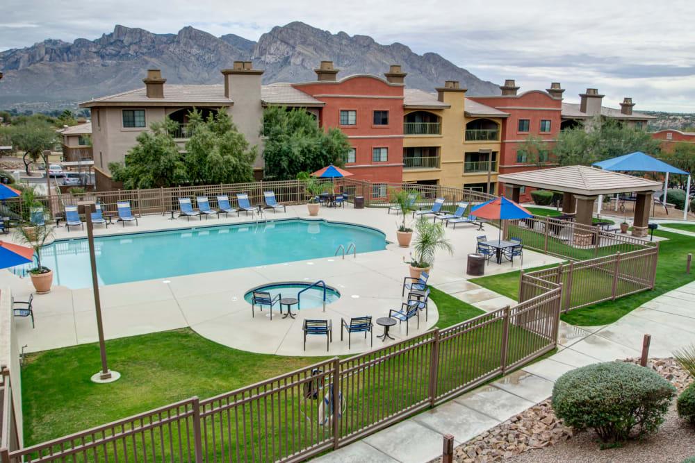 Aerial view of Oro Vista Apartments in Oro Valley, Arizona
