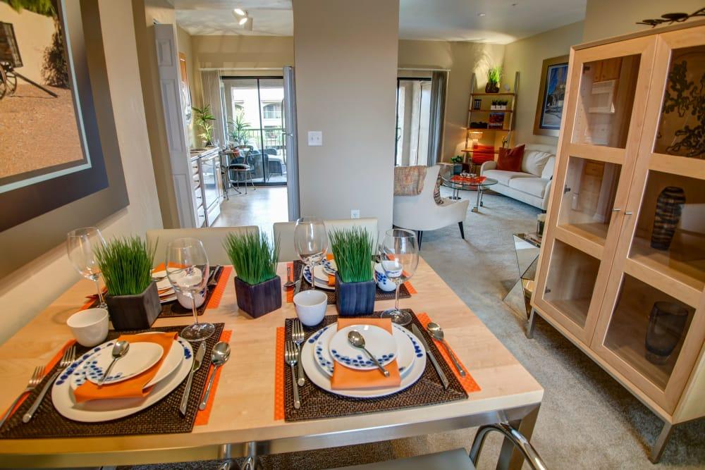Table setting at Oro Vista Apartments in Oro Valley, Arizona