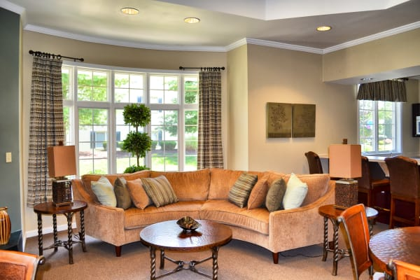 Living room at Chesterfield Apartment Homes in Levittown, Pennsylvania