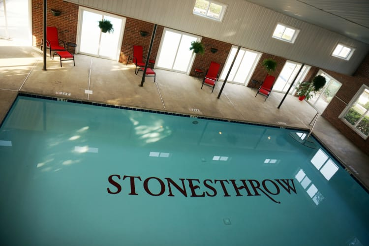 Stonesthrow Apartment Homes offers an indoors swimming pool in Greenville, SC