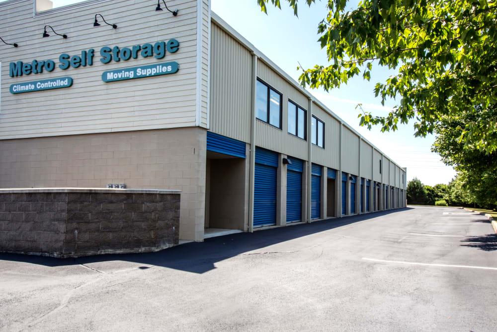 Exterior drive up units at Metro Self Storage in Southampton, New York